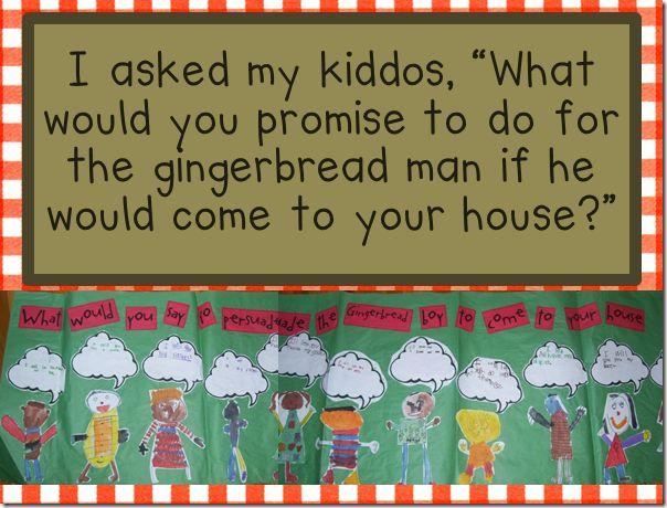 Gingerbread ideas - persuasion piece