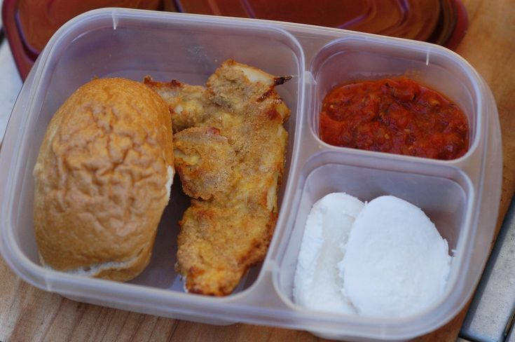 """Homemade & healthy: Chicken Parmigiana Sandwich """"Lunchable"""""""