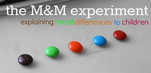 crayonfreckles: tough questions: why do people have different color skin?  The M experiment exploring diversity.