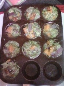 Zucchini and sweet potato frittatas | Dinner is Served | Pinterest