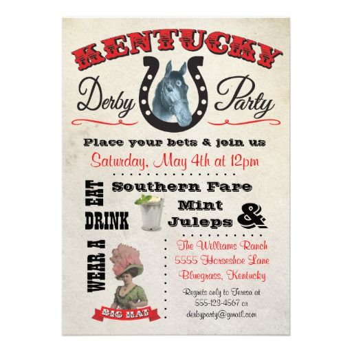 Derby Party Invitations is the best ideas you have to choose for invitation example