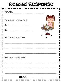 Reading Response Sheets | Reading | Pinterest