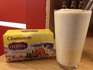 Banana Chamomile Smoothie - strong chamomile tea - cold, almond milk ...