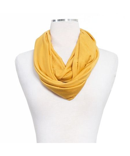 mustard color infinty scarf