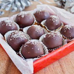 Dark chocolate-salted caramel truffles with Fleur de Sel. | *Candy ...