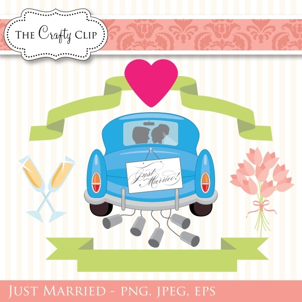 Wedding Gift Tag Clipart : collection of wedding themed graphics. Use them to create favor tags ...
