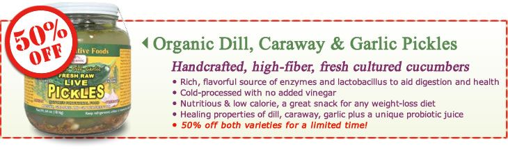 Organic Dill, Caraway and Garlic Pickles - handcrafted, high-fiber ...