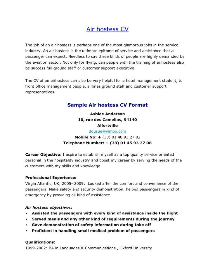 Hospitality Job Cover Letter Sample
