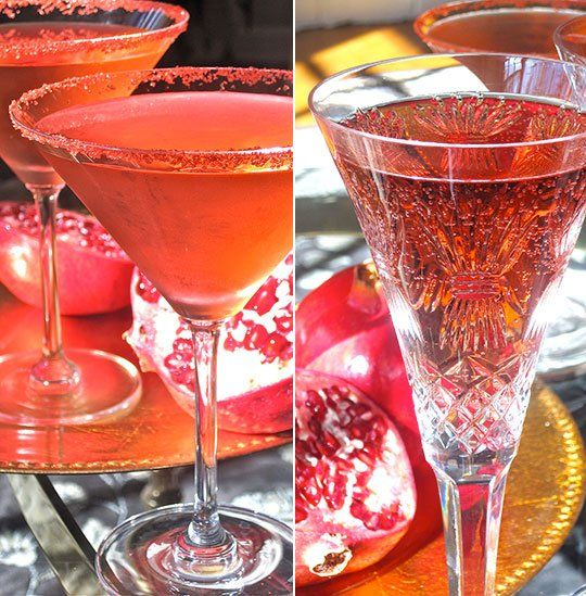Easy Thanksgiving Cocktail Recipe: Pomegranate and Prosecco Spritzer
