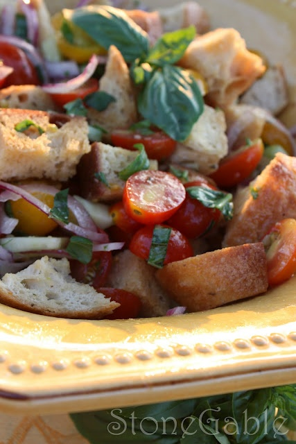Panzanella Salad -- Panzanella is a Summer Bread and Tomato Salad ...
