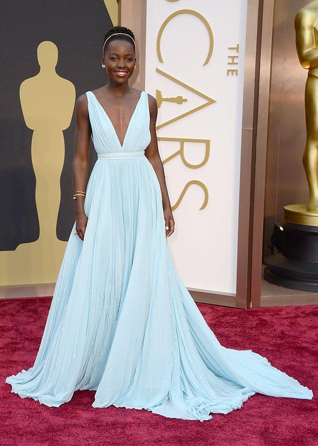 Lupita Nyong'o from 2014 Oscars Red Carpet Arrivals | E! Online--Prada