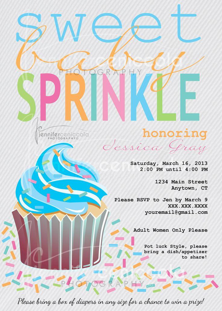 Baby Sprinkle Invitation | {Theme} Baby Sprinkle- Girl ...