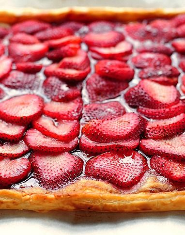 This Strawberry Tart is made using puff pastry and is done in no time.