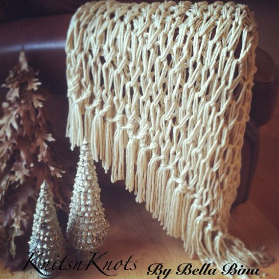 Los Angeles Tan Arm Knitted Decorative by KnitsnKnotsBellaBina, $45.00
