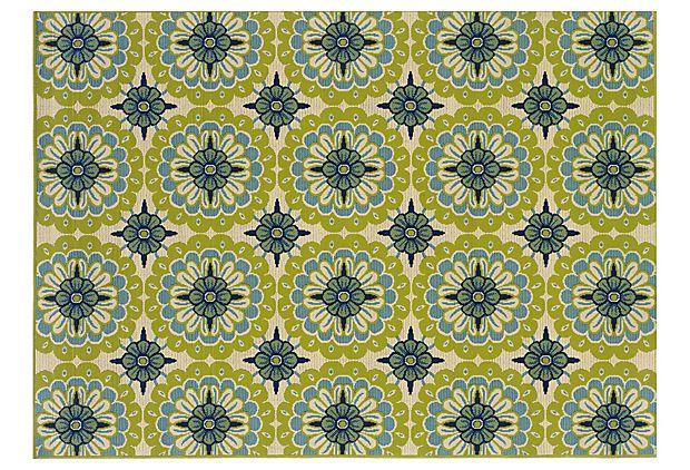 Spanish tile indoor outdoor rug home decor