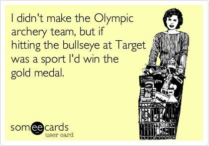 Target Olympics.  I'm in!  #target #lol