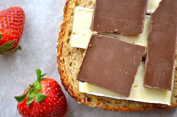 Chocolate Brie Grilled Cheese. Roasted strawberries!? Grilled cheese ...