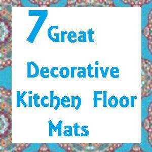 Decorative cushioned kitchen floor mats