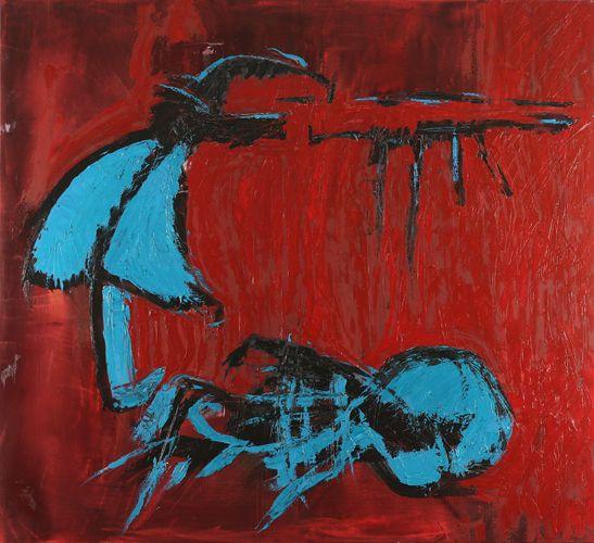 Grzegorz Winkler, Koan 13 Toth 110 x 120 olej na płótnie 2010.