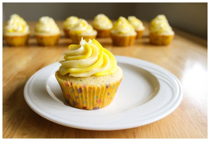 Lemon Poppy Seed Cupcakes with Classic Buttercream Frosting | Recipe