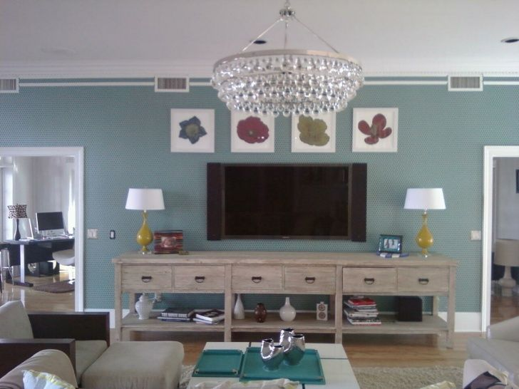 Love the long slender table under tv for the home for Table under tv