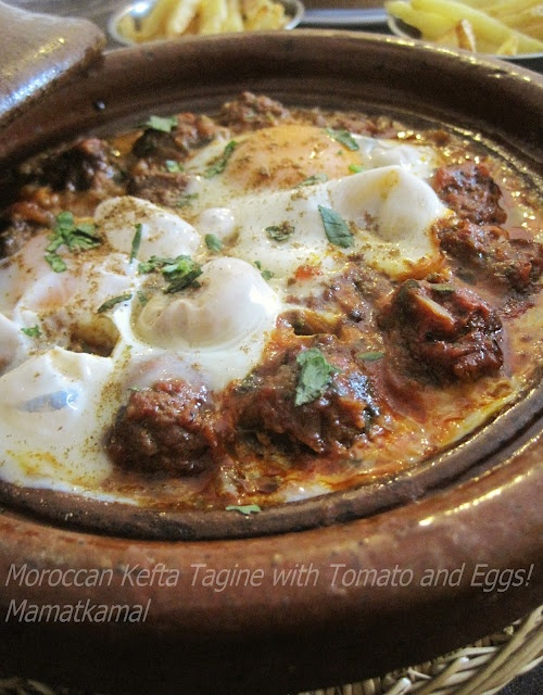 Moroccan Kefta Tagine with Tomato and Eggs