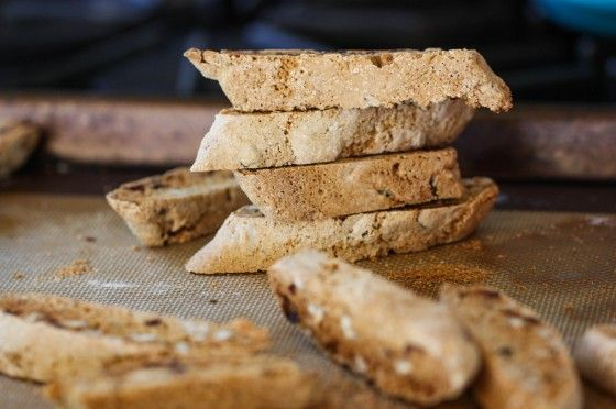 Whole wheat pecan cranberry biscotti