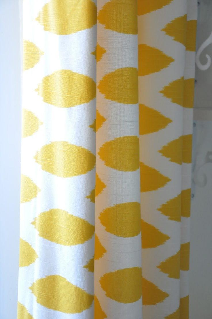 Yellow And White Curtains For Nursery Custom Curtains for Nursery