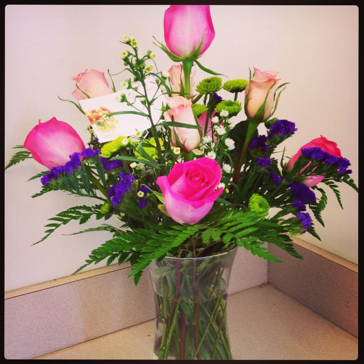 Mother 39 s day floral vase arrangement spring arrangements for Mother day flower arrangements
