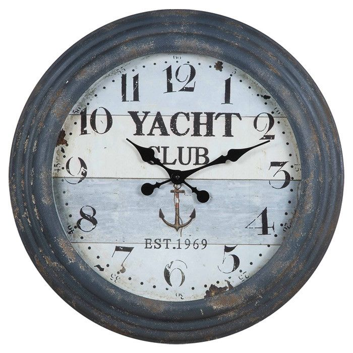 Nautical wall clock intriguing interiors pinterest for Seashell wall clock