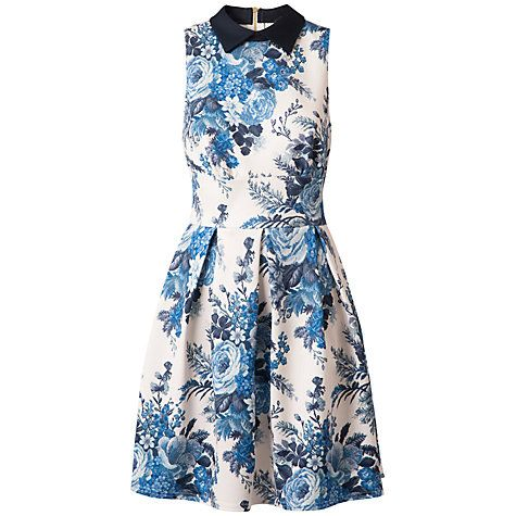 Buy closet tapestry print collar dress blue print online at johnlewis