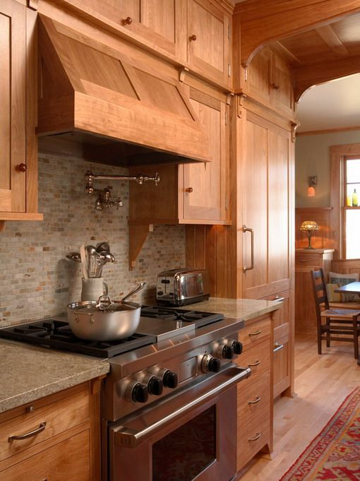 Cabinets In Small Craftsman Kitchen Home Kitchen Interior Design Ideas