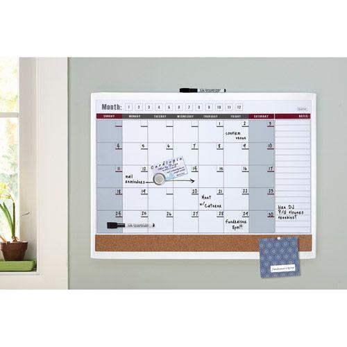 Calendar Bulletin Board Combo : Quartet magnetic combination calendar board quot
