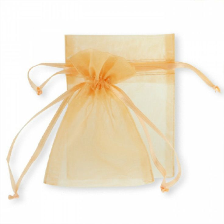 Sheer Wedding Favor Bags Bulk : Sheer Organza Favor BagsOrange [403804-403825 Orange Organza Bag]
