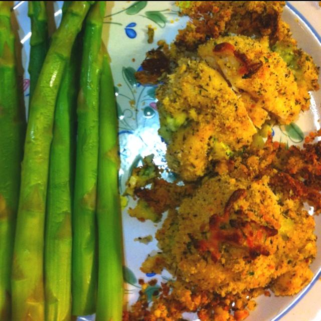 Dinner tonight was Chicken Rollatini Stuffed w/ Zucchini & Mozzarella