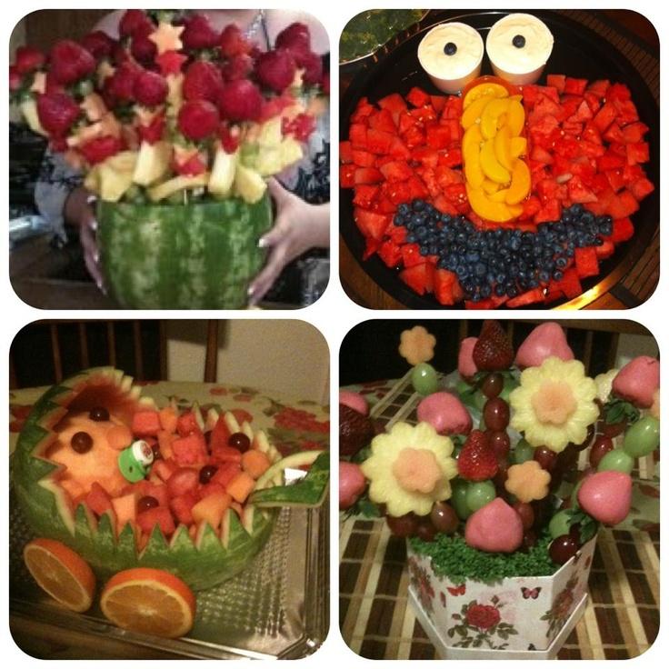 Fruit Arrangements Party Ideas Pinterest