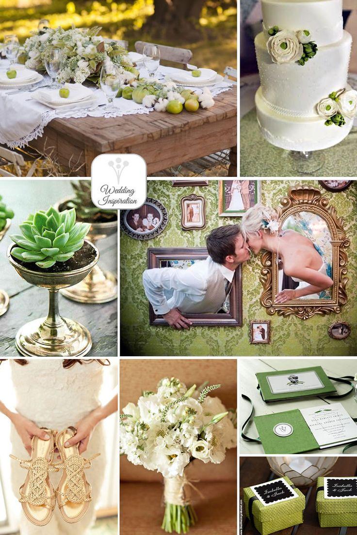 Rustic Summer Green Wedding Inspiration
