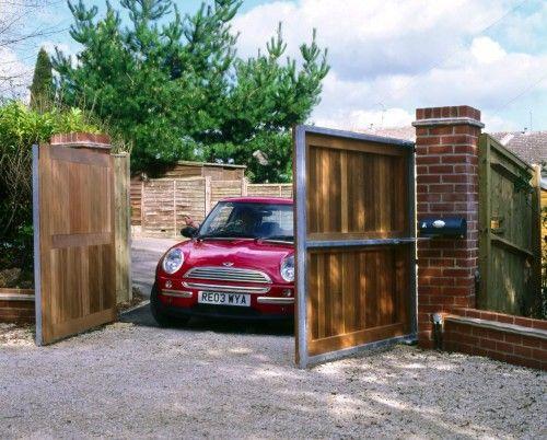 Automatic gate for carport outdoor space ideas pinterest for Carport gate ideas
