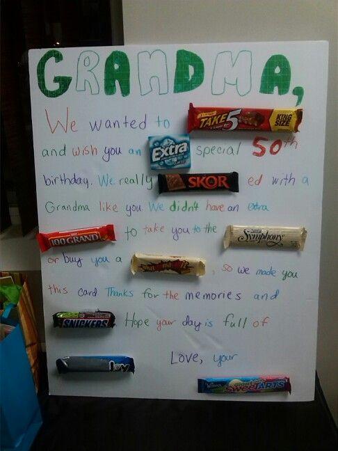 Candy Bar Birthday Card | 80th birthday | Pinterest