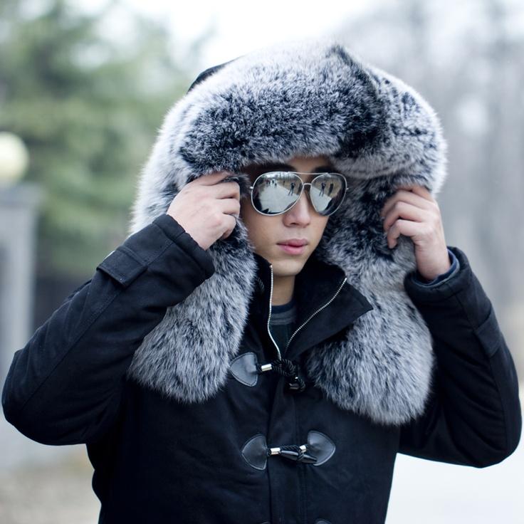 Mens White Fox Fur Coat | Homewood Mountain Ski Resort
