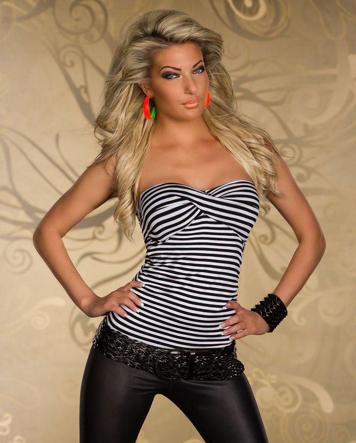 Pin by nayla de uncadeauunsourire on veste top femme et haut de soir - Haut sexy femme ...