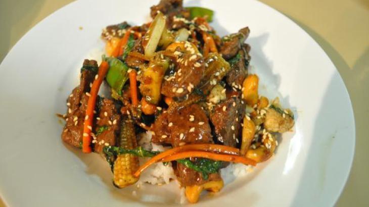 Korean Beef Stir-Fry Recipe — Dishmaps