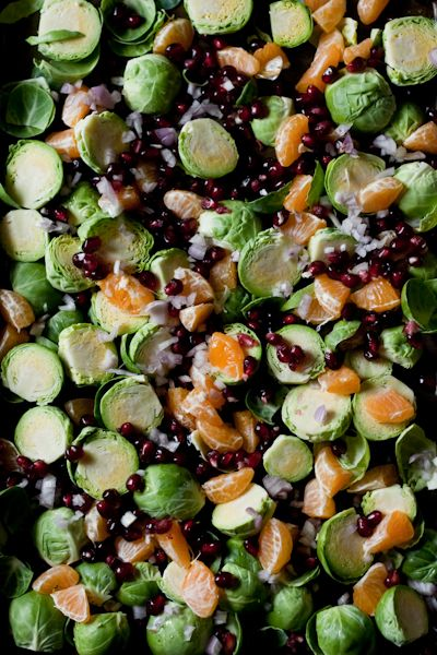 sweet and savory brussel sprouts