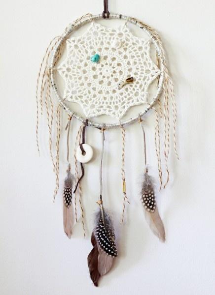 Crochet Patterns Dreamcatchers : crocheted dream catcher .. Dream Catchers Pinterest