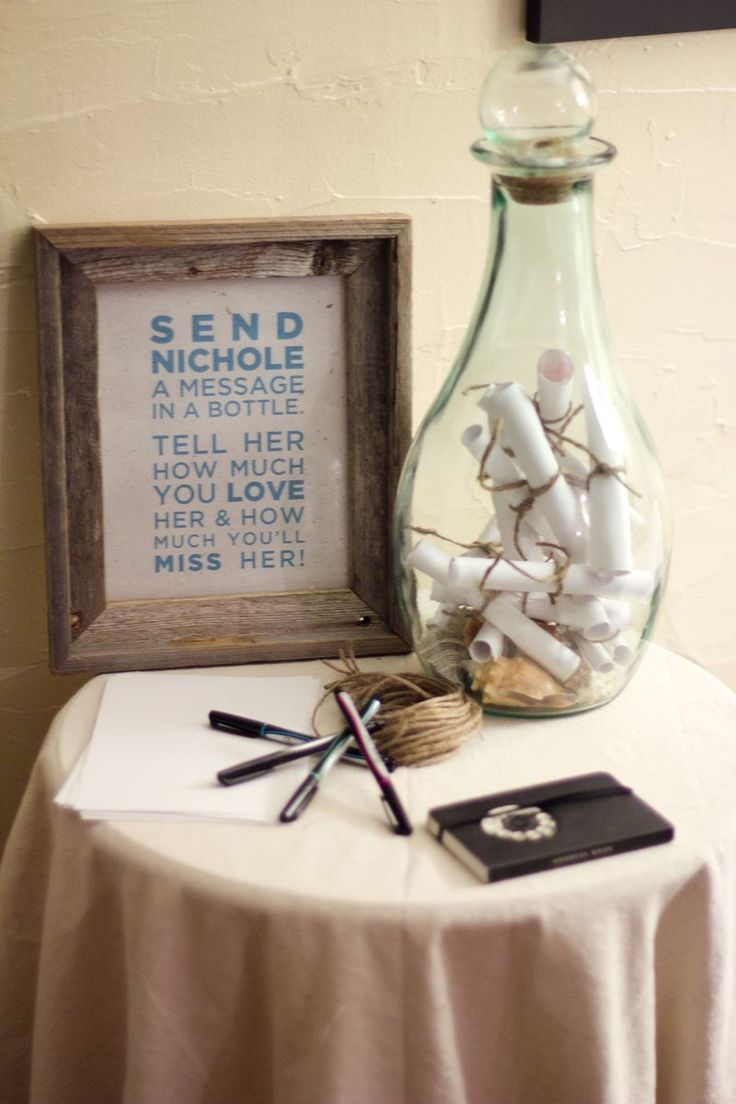 Write Them A Message In A Bottle Going Away Party