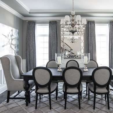 Calming Gray Dining Room