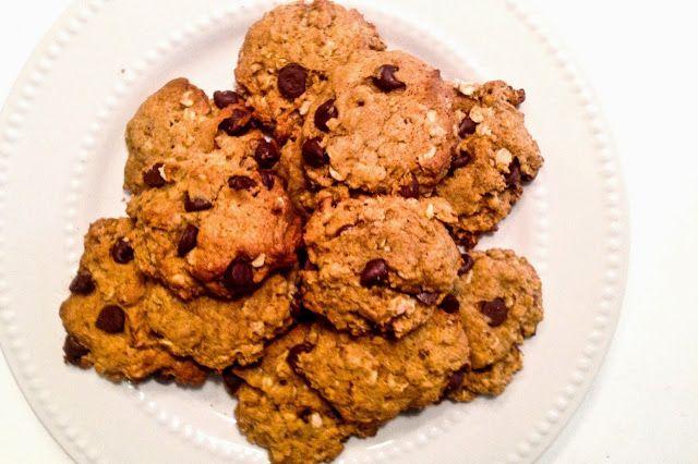 Pumpkin Chocolate Chip Oatmeal Cookies -made 1/2 batch, yielded 3 doz ...