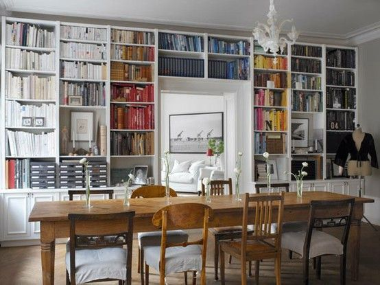Bookcase Dining Room Dining Room Pinterest