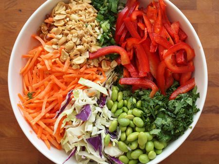 Asian Slaw with Ginger-Peanut Dressing | Recipes | Pinterest