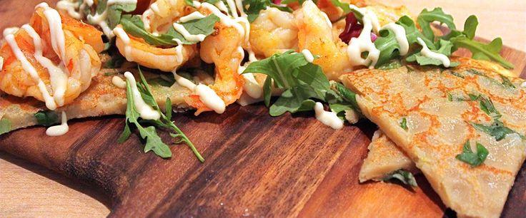 The Scoop | Chef Stephanie Izard's Gluten-free Scallion Pancakes with Shrimp | Abe's Market